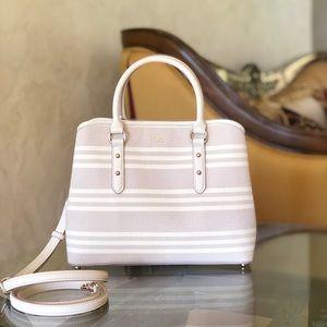 NWT kate spade fabric stripe Evangelie handbag